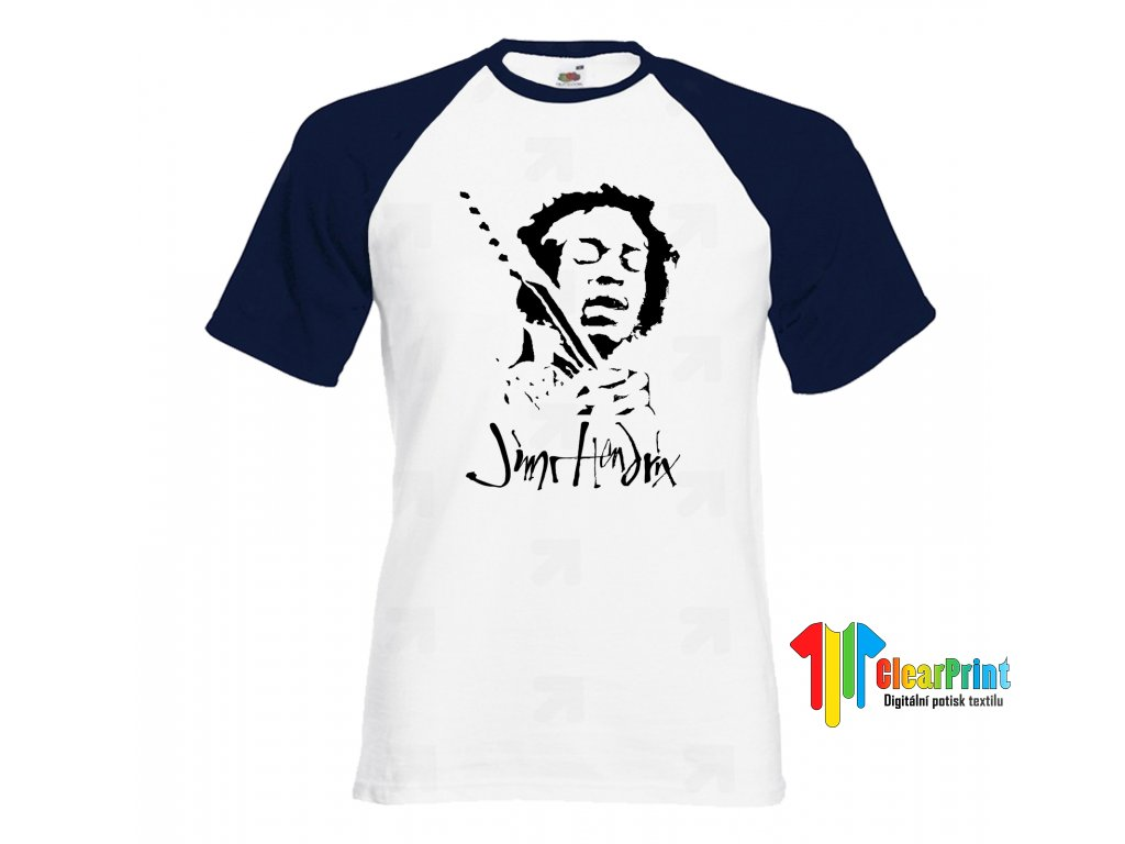 Jimi Hendrix Náhled navy white