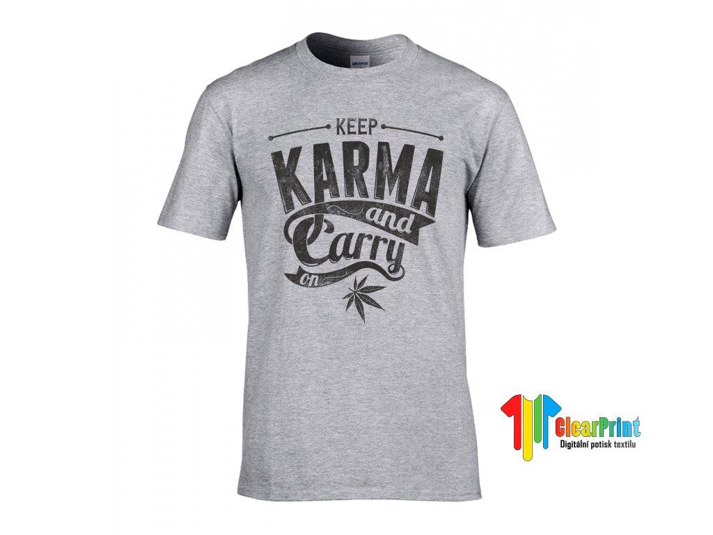 Keep Karma Náhled grey