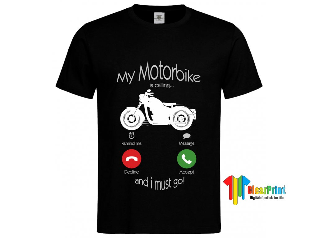 My Motorbike is calling Náhled blue