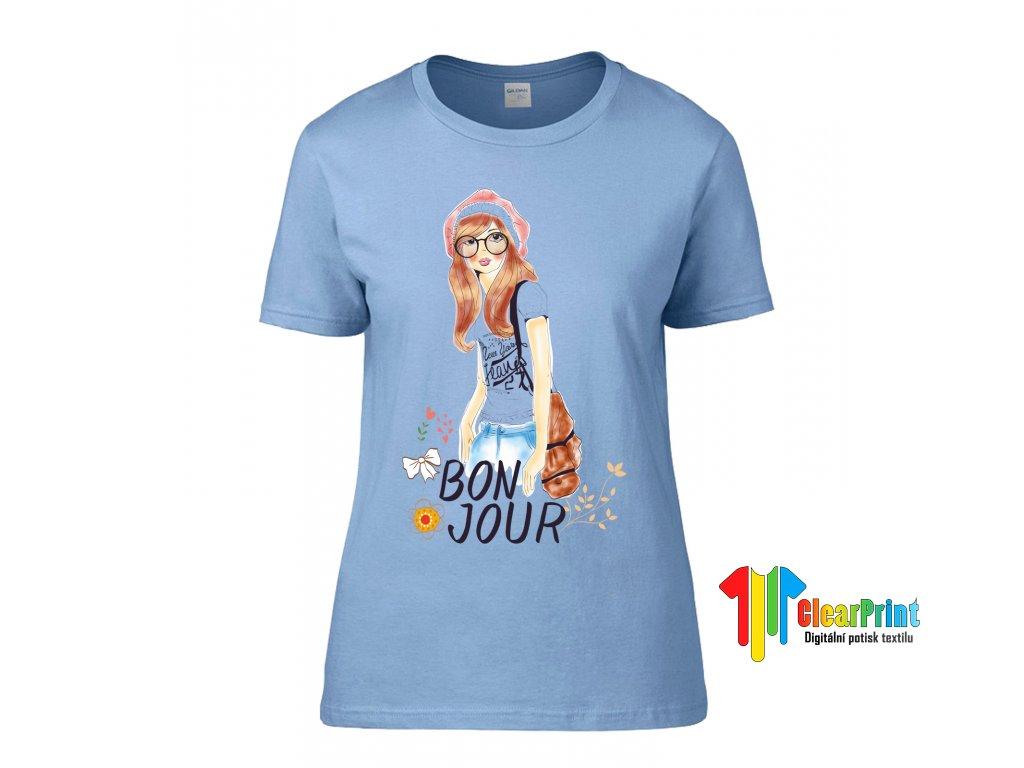 Bon Jour Náhled blue