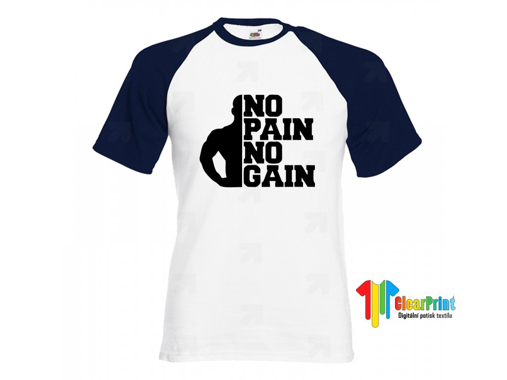 No Pain No Gain Náhled navy white