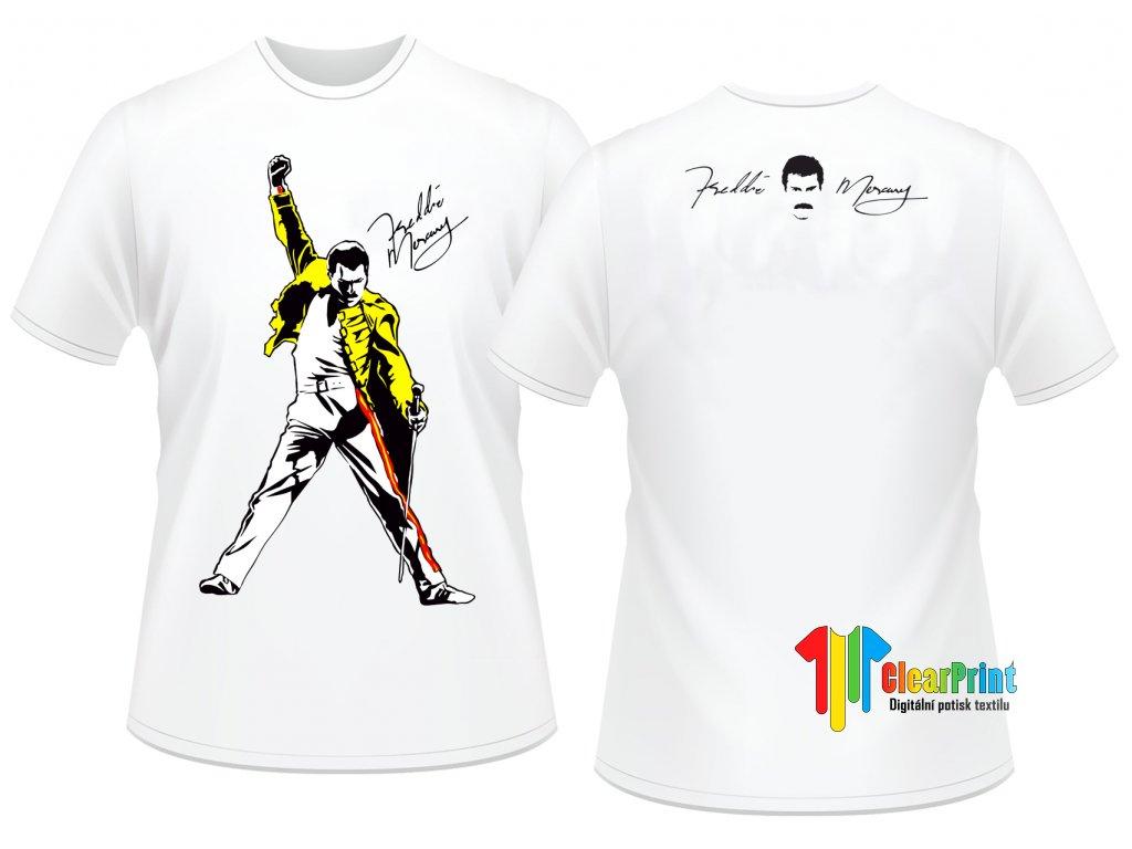 Freddie Mercury Náhled white