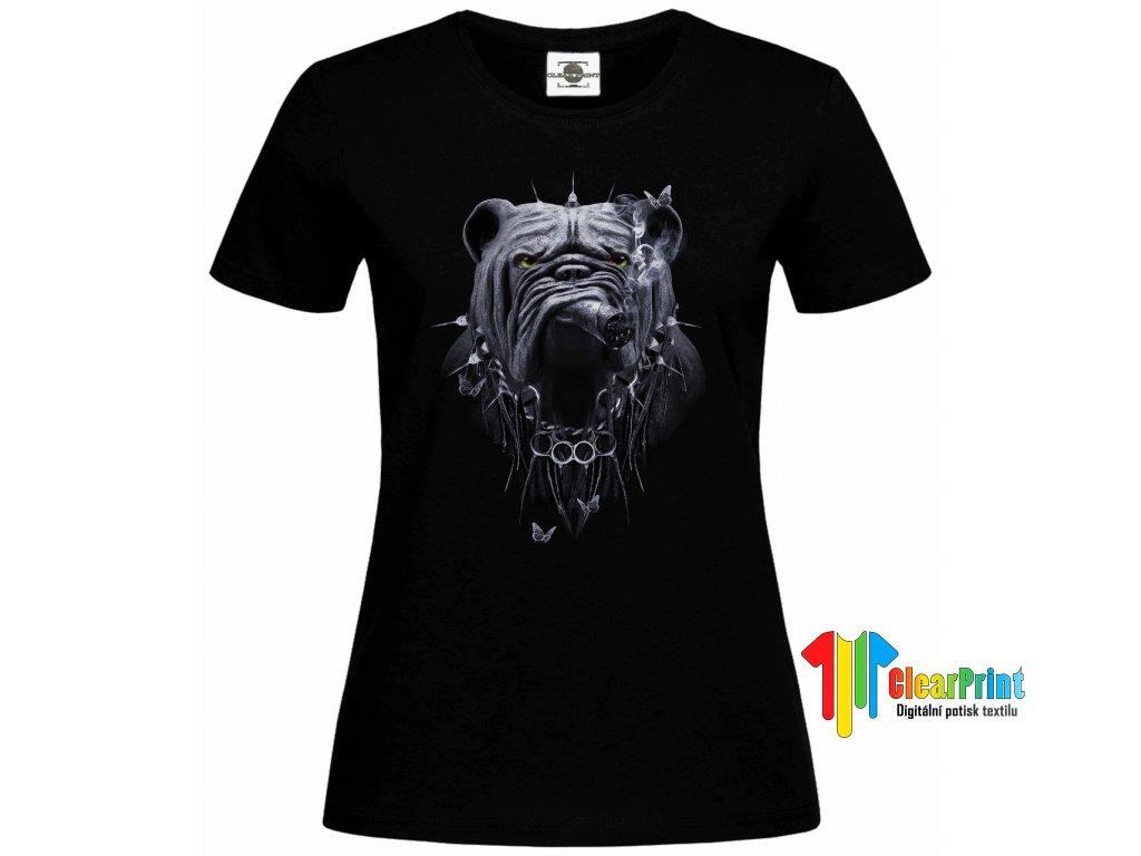 Bulldog s doutníkem Náhled black