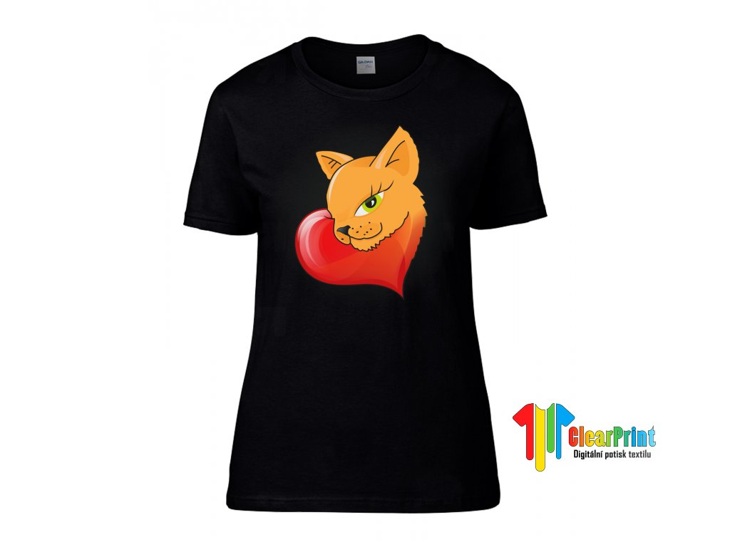 Kočka v srdci Náhled black d