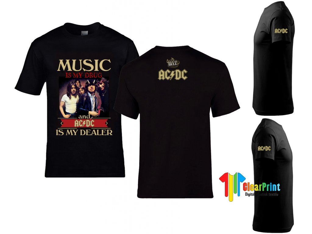 Music In AC DC Náhled black