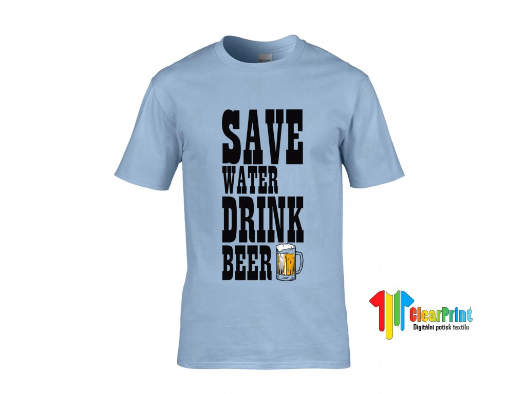 Save Water Drink Beer Náhled blue
