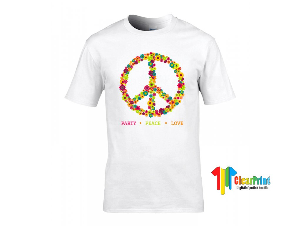 Party.Peace.Love. Náhled white