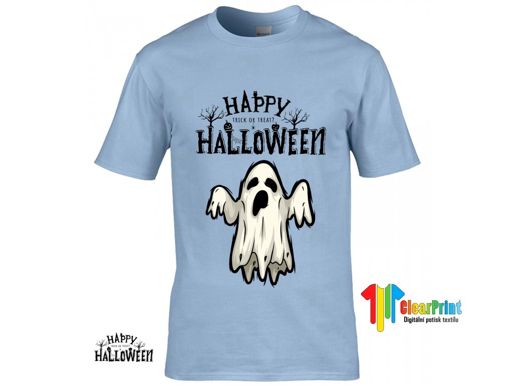 Happy Halloween Ghost Náhled blue R