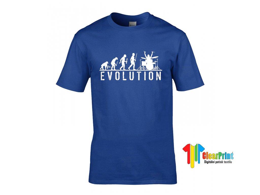 Evolution Drums Vzor royal blue white