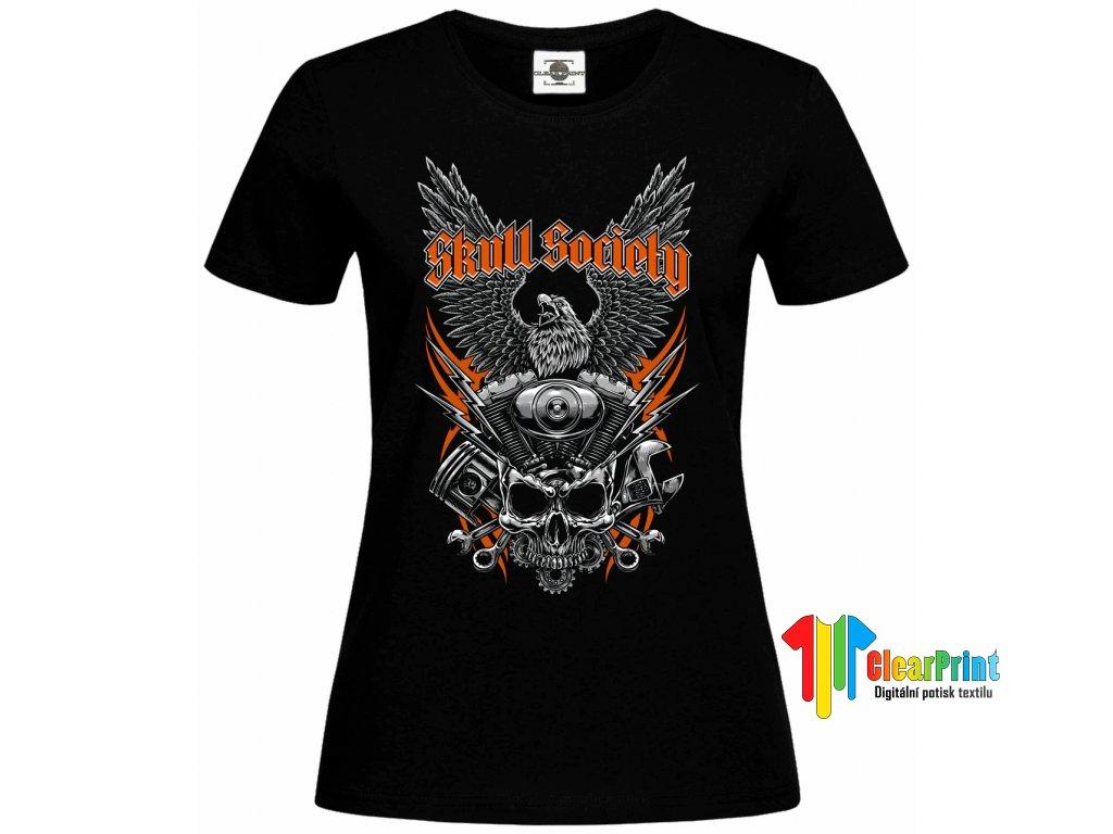 Skull society Náhled black