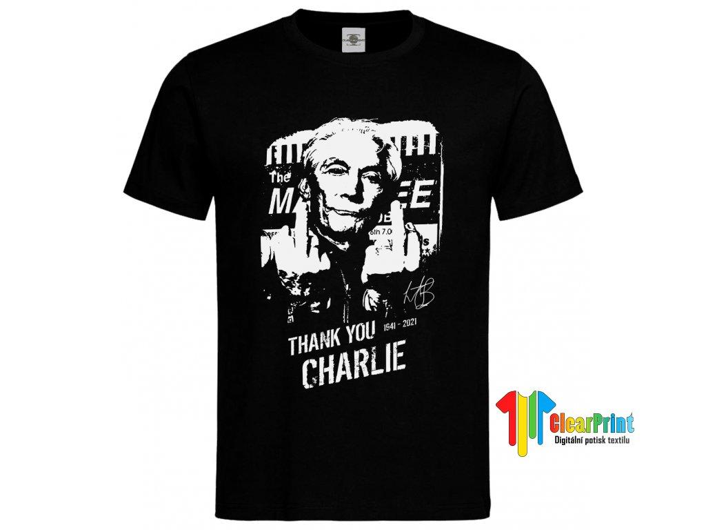 Thank you Charlie Náhled black