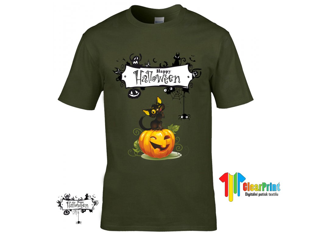 Happy Halloween Náhled military green R