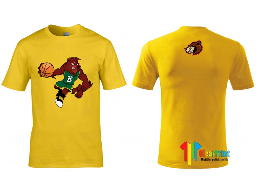 Basketball Bear Náhled yellow