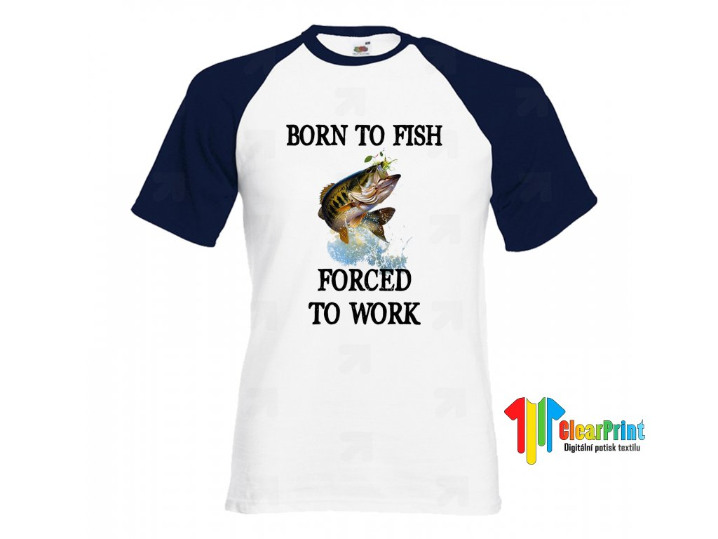 Born To Fish Náhled navy white