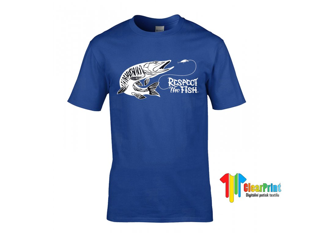 Respect The Fish Náhled royal blue