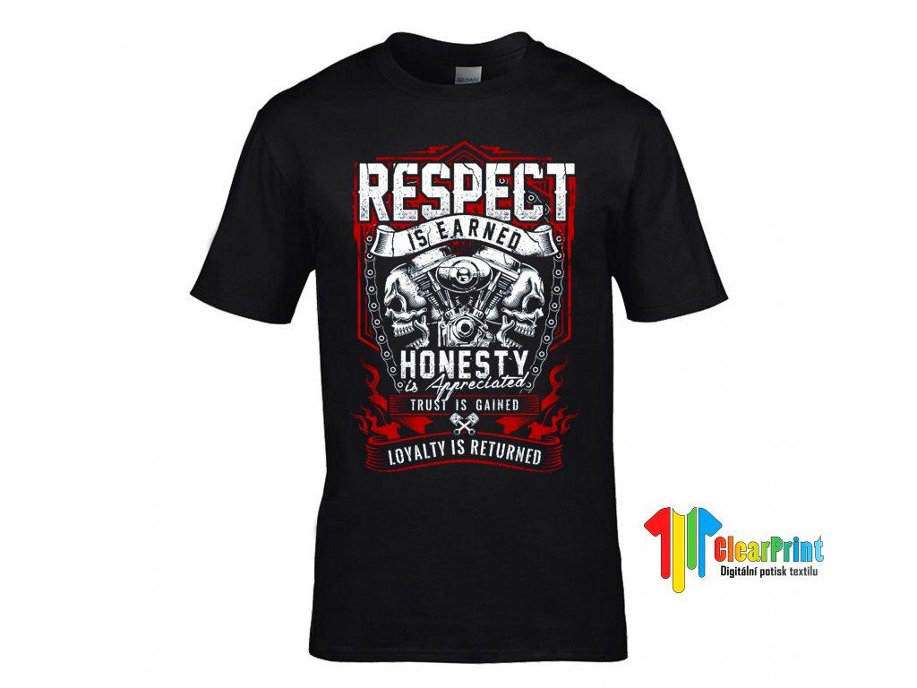 Respect is Earned Honesty Náhled black