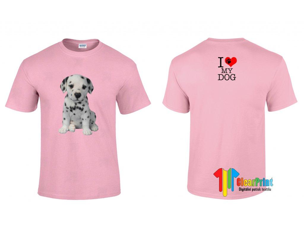 Tričko I Love My Dog Puppy
