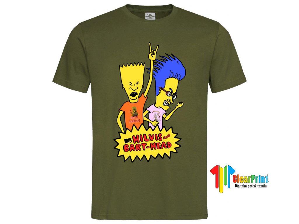 Milvis And Bart Head Náhled white