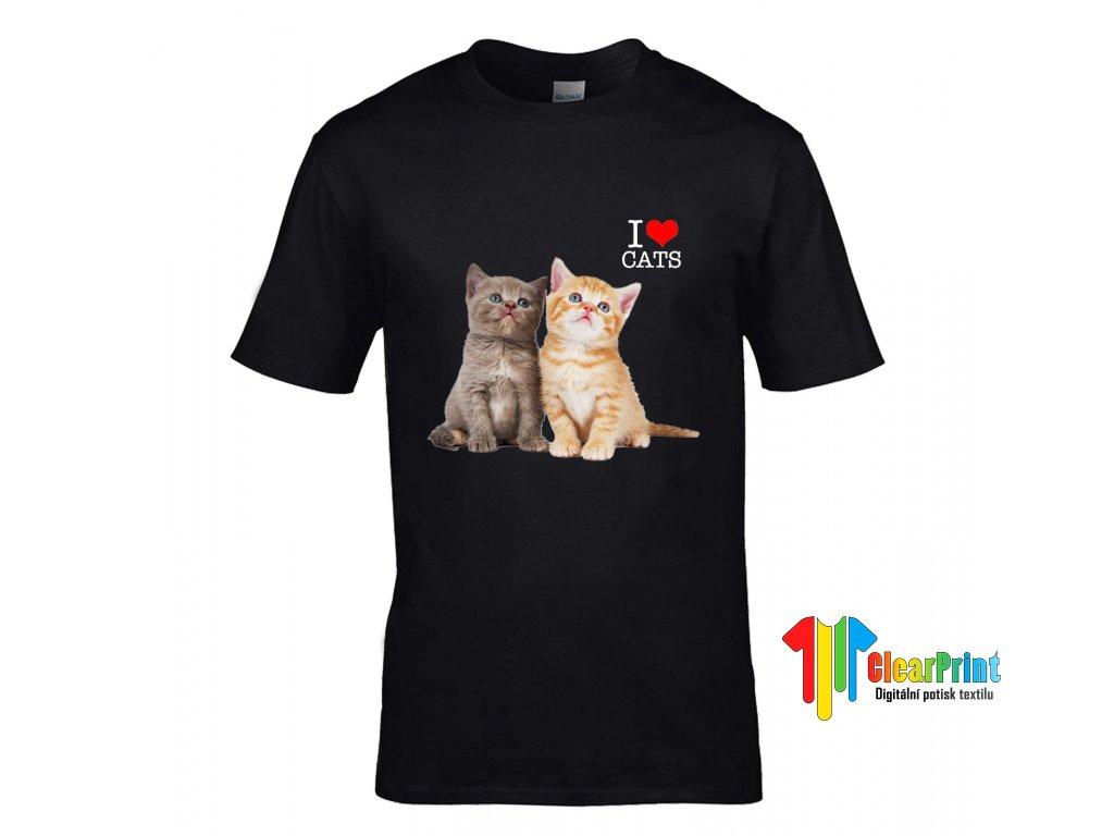 53320d390d36 Tričko I Love You Kid Cats · I Love you Kid Cats Náhled black ...