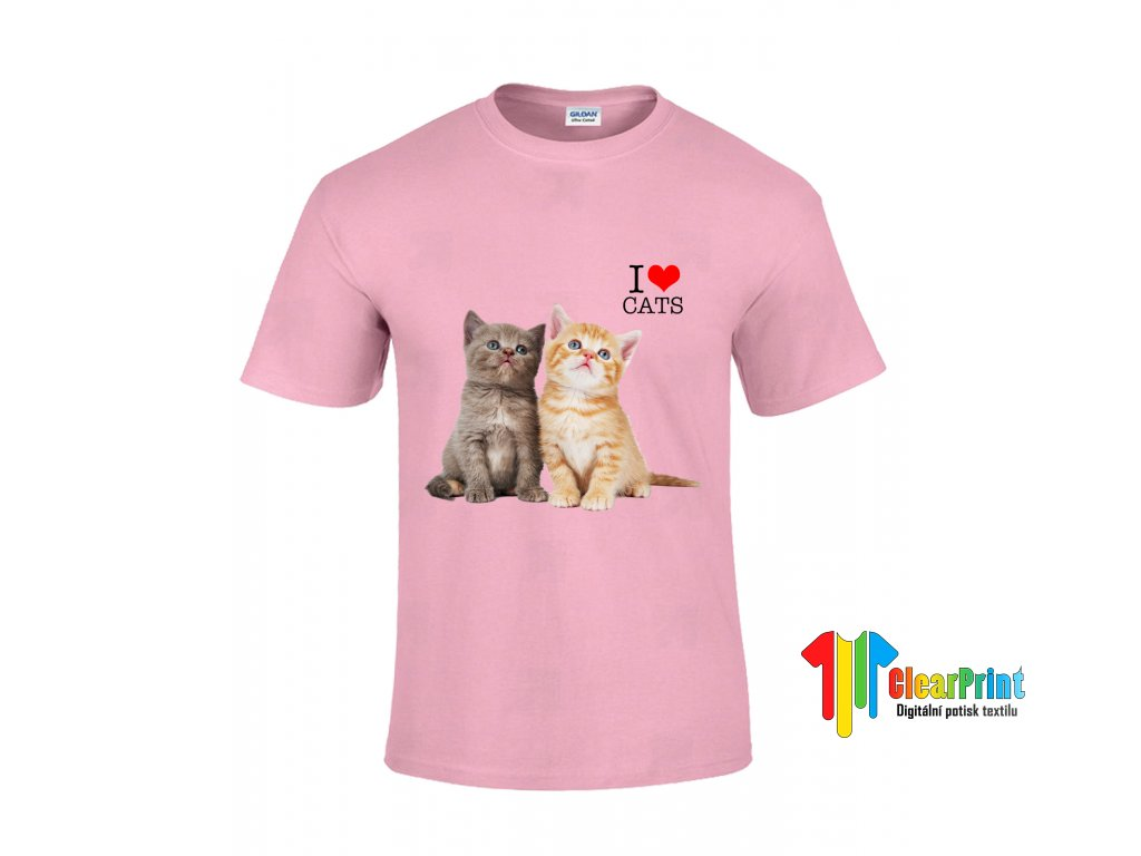 Tričko I Love You Kid Cats