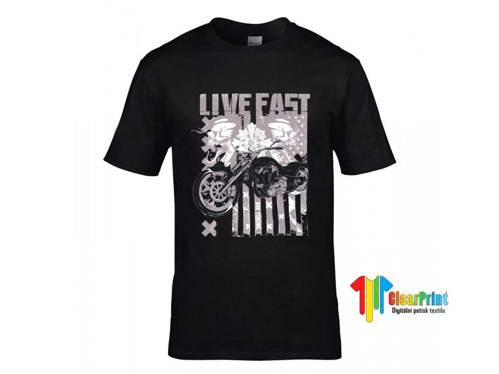 Live Fast Náhled black