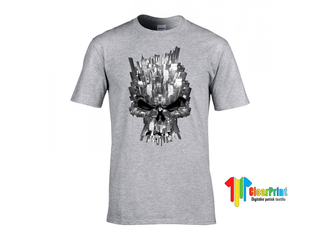 Tričko New York Skull