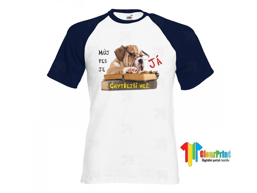 Tričko Bulldog v knihovně