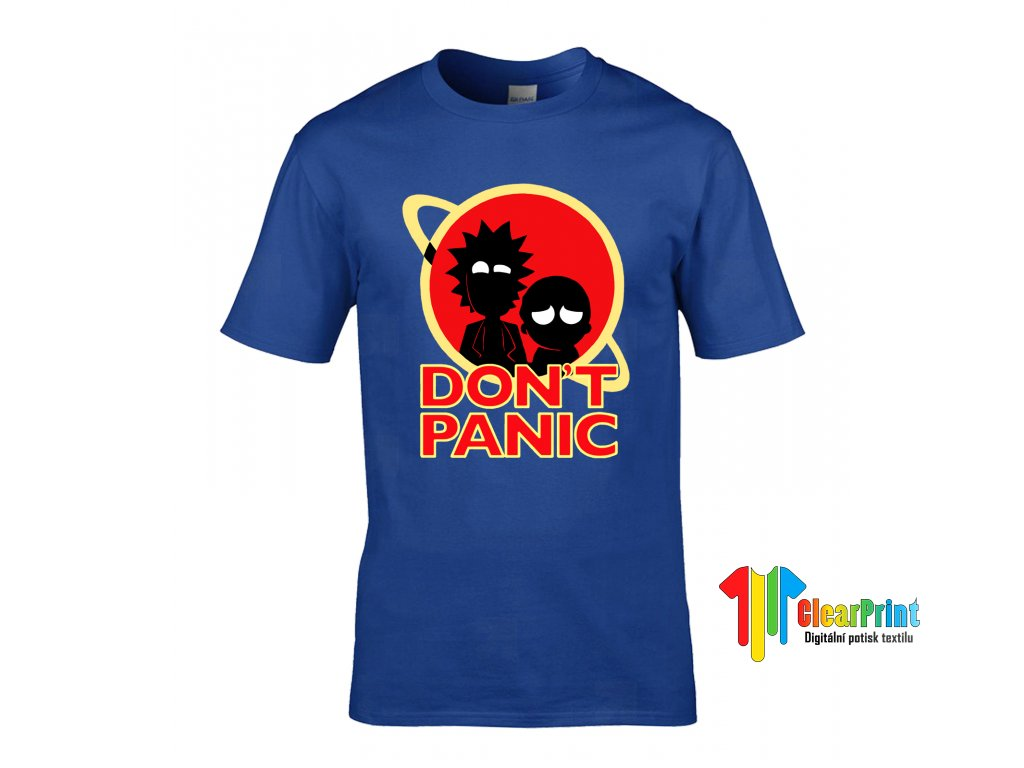 Don't Panic náhled royal blue