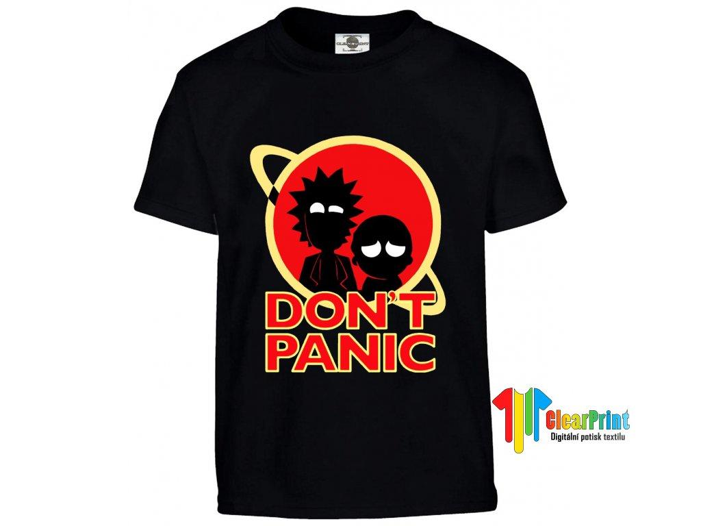 Don't Panic náhled royal blue