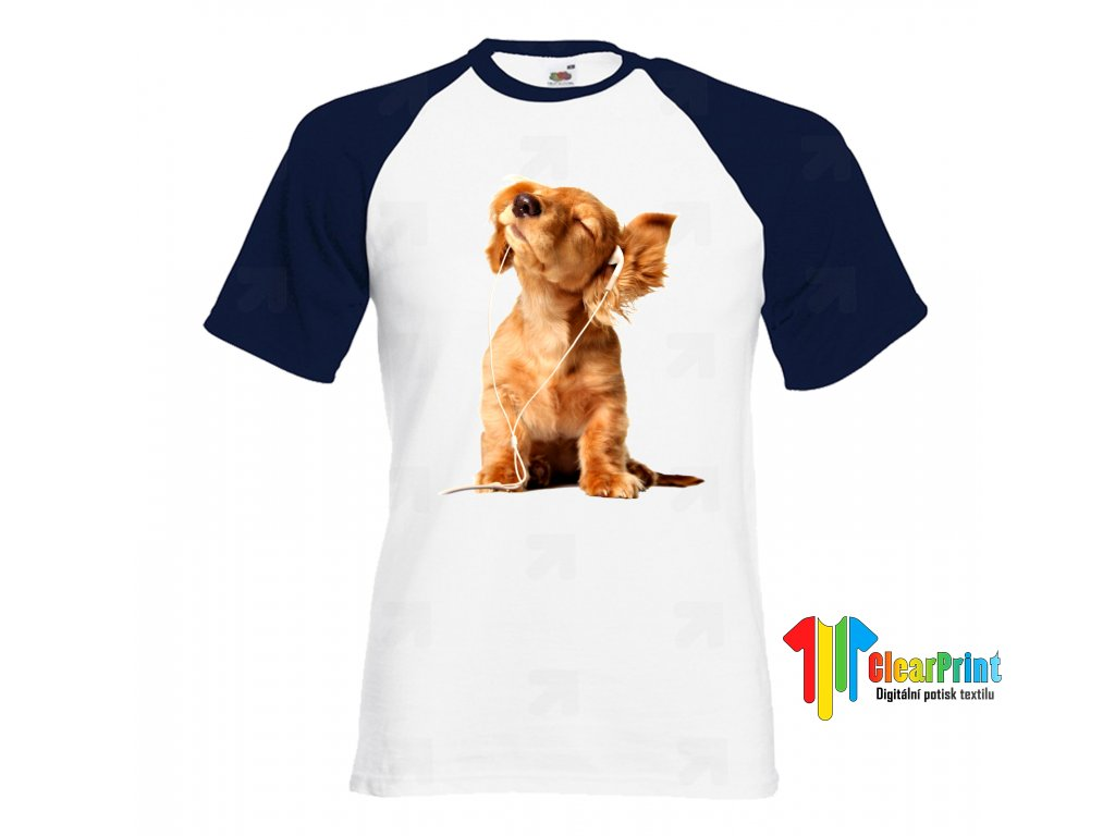 Music Dog Náhled navy white