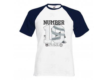 Číslo 10 Náhled navy white