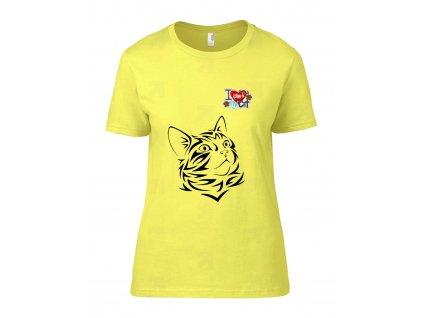 I Love Cat Náhled cornsilk