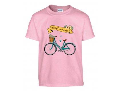 Miluji své kolo Náhled pink d