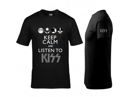 Keep Calm Kiss Náhled black L