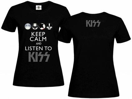 Keep Calm Kiss Náhled black L