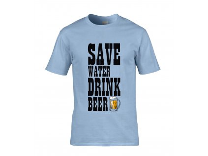 Save Water Drink Beer Náhled blue
