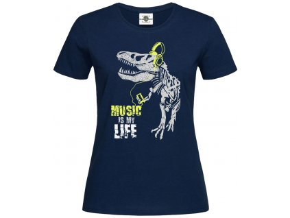 Music is my life Náhled navy d