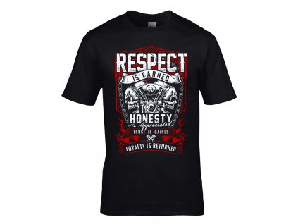 Respect is Earned Honesty Náhled black