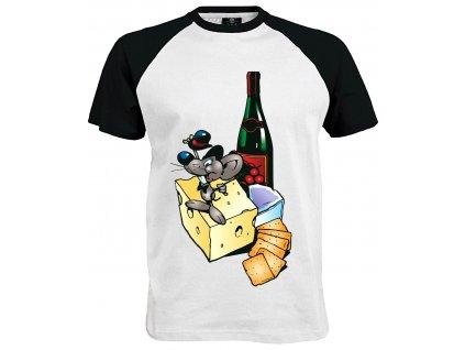 Tričko Myšák s vínem