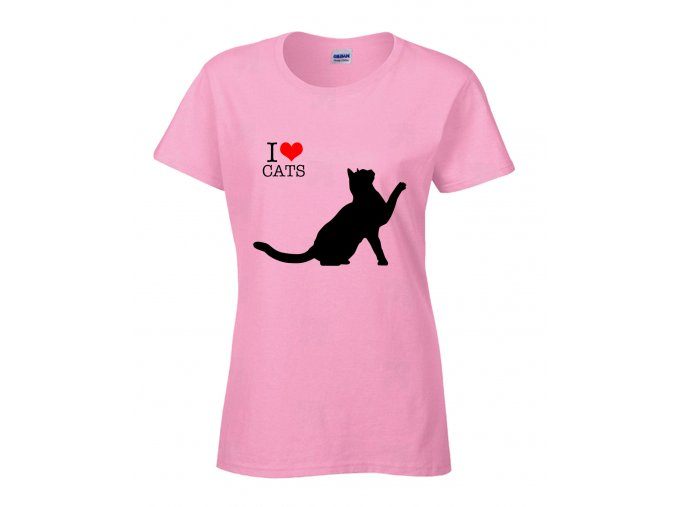 I Love Cats Náhled pink