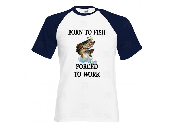 Born To Fish Náhled navy white