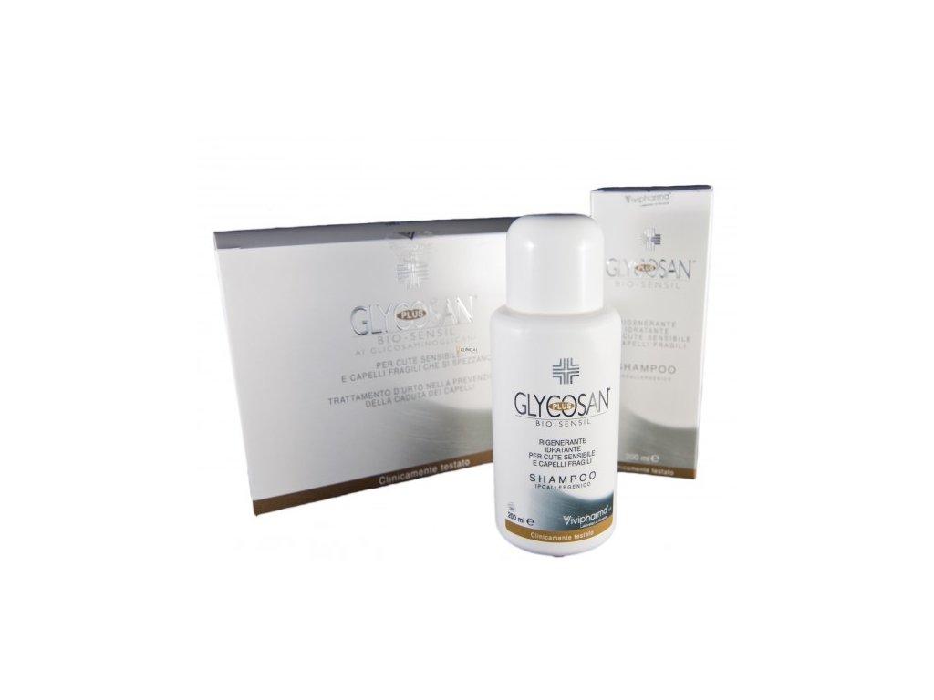 Glycosan Plus Bio-sensil set proti padání vlasů na citlivou pokožku