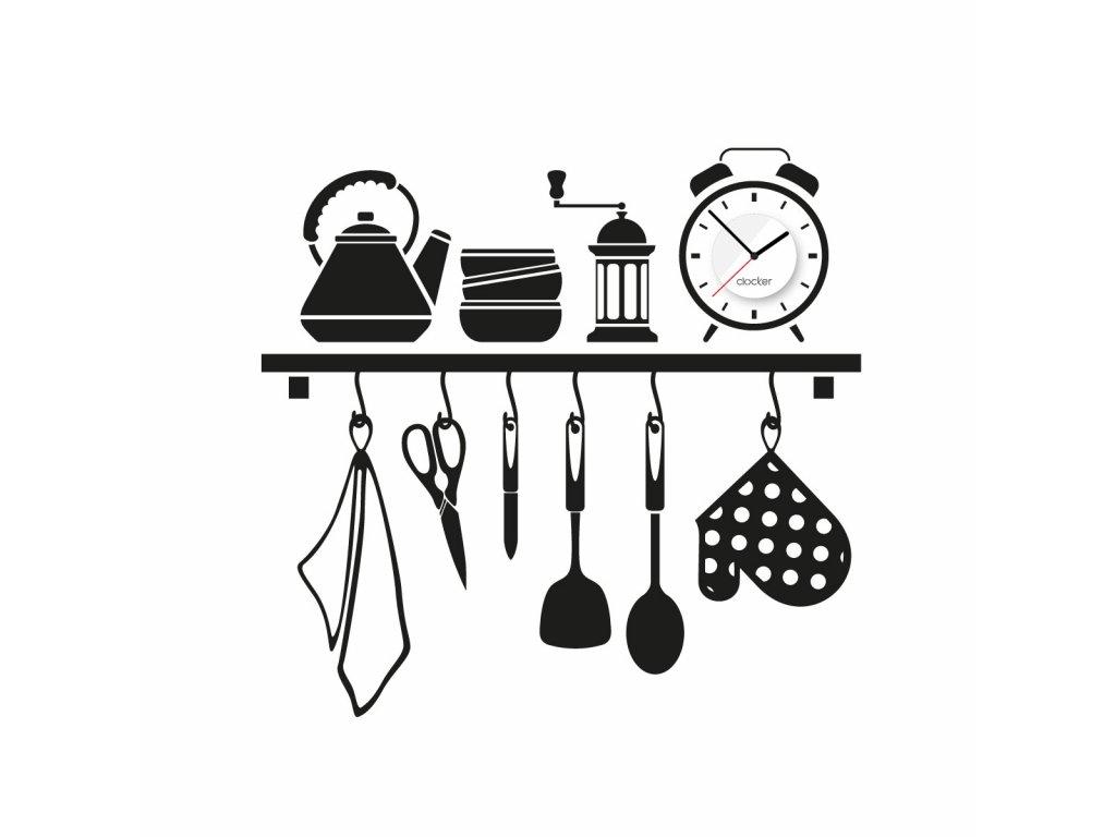 Nalepovací hodiny Kitchen shelf