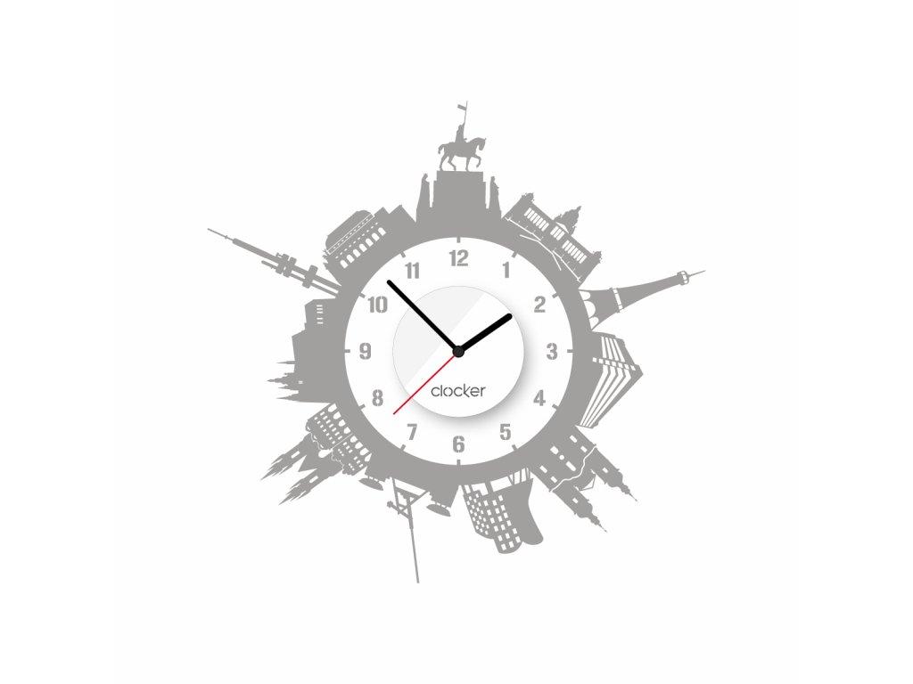 Nalepovací hodiny Prague