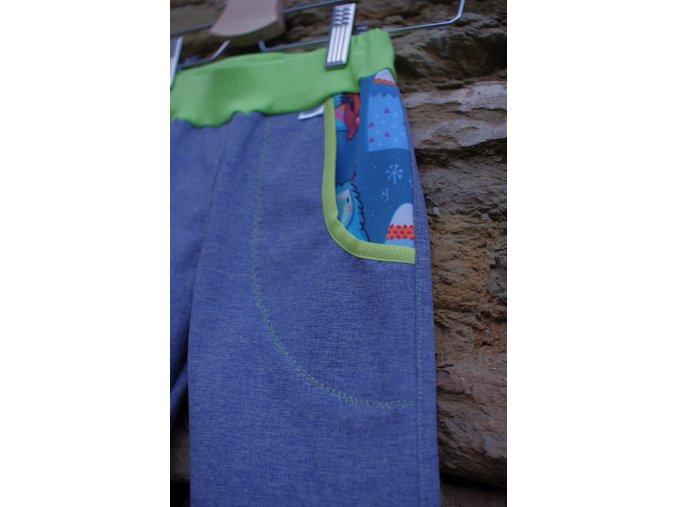 """softshellové kalhoty """"bůžek"""" / modrá"""