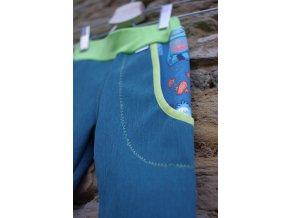 """softshellové kalhoty """"bůžek"""" / zelená"""