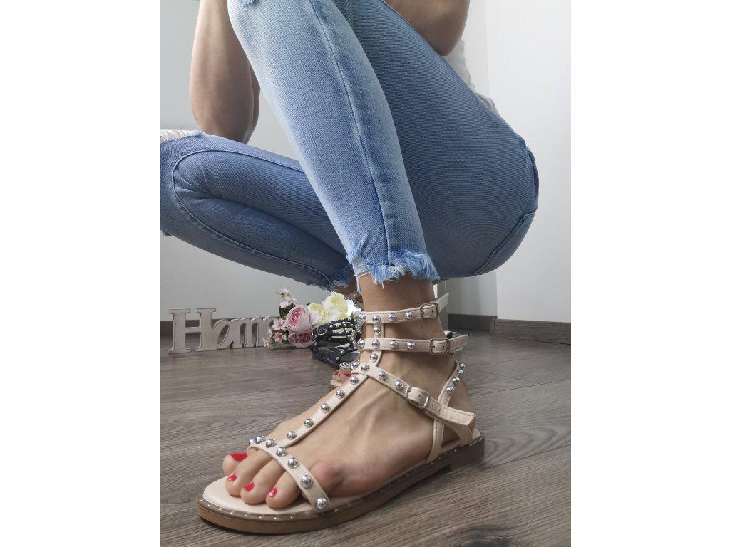 Dámske sandále  2011 beige