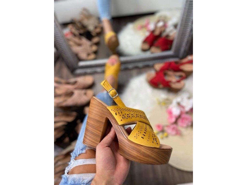 Dámske sandále 8063 yellow