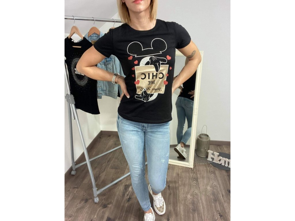 Dámske tričko HJ335 black