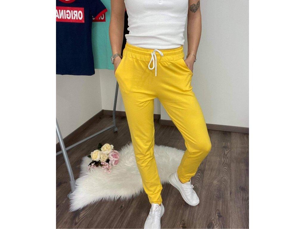 Dámske teplákové nohavice yellow